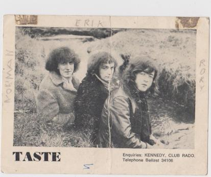 Postcard of the original Taste members