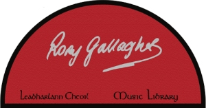 Rory Gallagher Music Library Logo