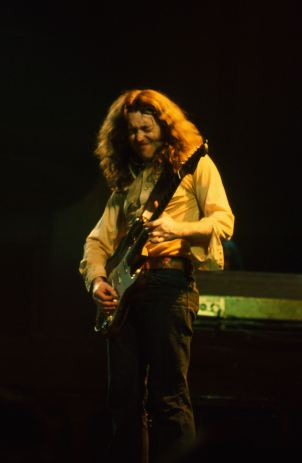 Rory Gallagher c1977 Manchester Free Trade Hall by Steve Smith