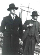 1932 09 Aloys Fleischmann on board the liner for Germany