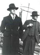 1932 09 Aloys Fleischmann on board the liner for Germany