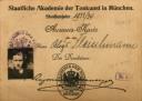1932 Fleischmann's Munich Academy student ID