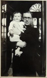 1945 Aloys Fleischmann with son Aloys Neil