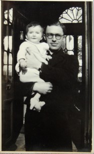 1945 Aloys Fleischmann with son Aloys Neil