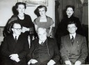 Aloys Fleischmann, Ralph Vaughan Williams, Seán Teegan, Ursula Vaughan Williams, Anne Fleischmann, Harriet Cohen, University College Cork, 17 October 1955