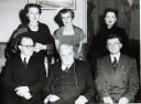 Aloys Fleischmann, Ralph Vaughan Williams, Seán Teegan, Ursula Vaughan Williams, Anne Fleischmann, Harriet Cohen, University College Cork, 17 October 1955
