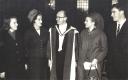 Dec 1964 Aloys Fleischmann Trinity Mus. Doc.h.c. with Maeve, wife, Anne, Neil