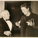 1968 Cork Orchestral Society presentation to Anne Fleischmann by its president, Augustus Healy