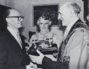1978 04 Aloys Fleischmann Freeman of City of Cork with wife and Lord Mayor Gerald Y. Goldberg April 1978