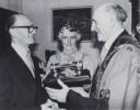 1978 04 Aloys Fleischmann Freeman of City of Cork with wife and Lord Mayor Gerald Y. Goldberg April 1978