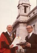 1978 April Lord Mayor Goldberg awards Fleischmann Freedom of City of Cork