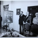 1978 Fleischmann with David, Gerald & Sheila Goldberg, A.A. Healy at presentation of portrait by David Goldberg