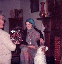 1980s Anne Fleischmann, J.D.Moriarty at Glen House for Xmas