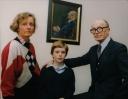 1992 Virginia Sandon Fleischmann portrait with Maeve, Max, Aloys Fleischmann