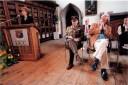 1999 Fleischmann 'Sources' launch by President McAleese with Neil Fleischmannl, M. O Suilleabhain and Max Fleischmann