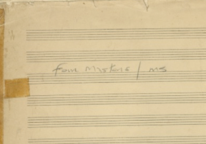 The Four Masters Original Manuscript