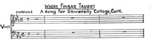 Where Finbar Taught Published Score Detail
